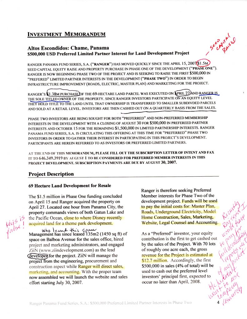 investor Memorandum