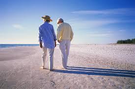 Elder Couple Beach